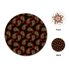 Pattern Abstract Paisley Swirls Playing Cards (Round)