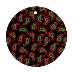 Pattern Abstract Paisley Swirls Round Ornament (Two Sides)