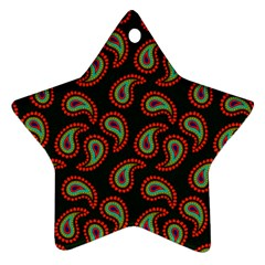Pattern Abstract Paisley Swirls Star Ornament (two Sides)
