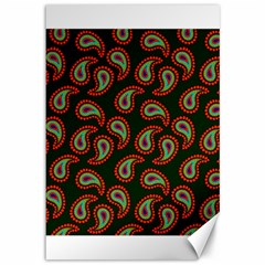 Pattern Abstract Paisley Swirls Canvas 12  x 18