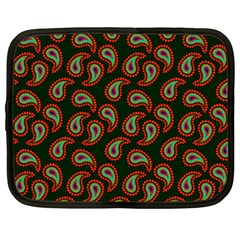 Pattern Abstract Paisley Swirls Netbook Case (Large)