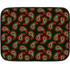 Pattern Abstract Paisley Swirls Double Sided Fleece Blanket (mini)
