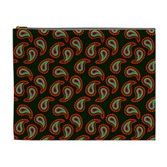 Pattern Abstract Paisley Swirls Cosmetic Bag (XL)