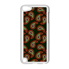 Pattern Abstract Paisley Swirls Apple iPod Touch 5 Case (White)