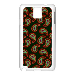 Pattern Abstract Paisley Swirls Samsung Galaxy Note 3 N9005 Case (White)