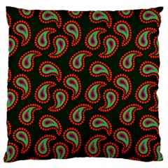 Pattern Abstract Paisley Swirls Large Flano Cushion Case (Two Sides)