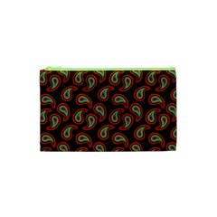 Pattern Abstract Paisley Swirls Cosmetic Bag (XS)