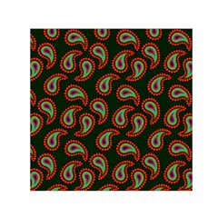 Pattern Abstract Paisley Swirls Small Satin Scarf (square)