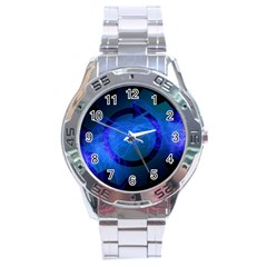 Particles Gear Circuit District Stainless Steel Analogue Watch