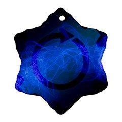 Particles Gear Circuit District Snowflake Ornament (Two Sides)