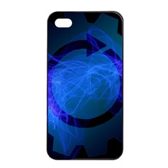 Particles Gear Circuit District Apple iPhone 4/4s Seamless Case (Black)
