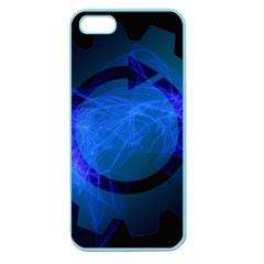 Particles Gear Circuit District Apple Seamless Iphone 5 Case (color)