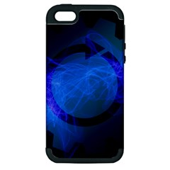 Particles Gear Circuit District Apple iPhone 5 Hardshell Case (PC+Silicone)