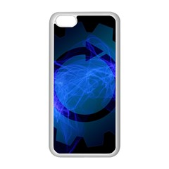 Particles Gear Circuit District Apple iPhone 5C Seamless Case (White)