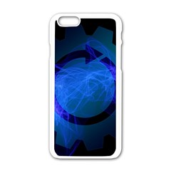 Particles Gear Circuit District Apple Iphone 6/6s White Enamel Case