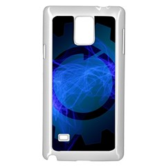 Particles Gear Circuit District Samsung Galaxy Note 4 Case (White)