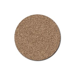 Mosaic Pattern Background Rubber Coaster (Round)