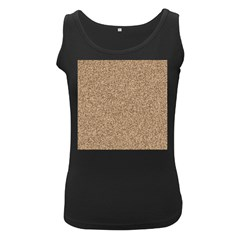 Mosaic Pattern Background Women s Black Tank Top