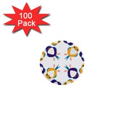 Pattern Circular Birds 1  Mini Buttons (100 pack)