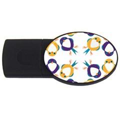 Pattern Circular Birds USB Flash Drive Oval (1 GB)