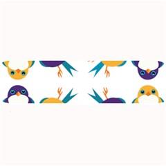 Pattern Circular Birds Large Bar Mats
