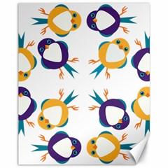 Pattern Circular Birds Canvas 11  X 14