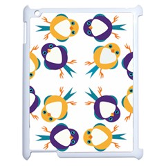 Pattern Circular Birds Apple Ipad 2 Case (white)