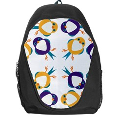 Pattern Circular Birds Backpack Bag
