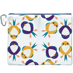 Pattern Circular Birds Canvas Cosmetic Bag (XXXL)