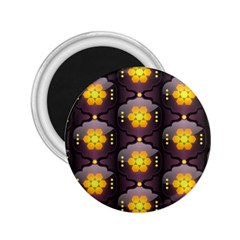 Pattern Background Yellow Bright 2.25  Magnets