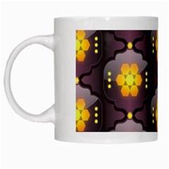 Pattern Background Yellow Bright White Mugs
