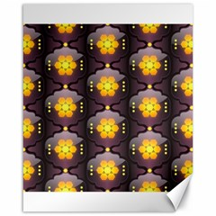Pattern Background Yellow Bright Canvas 16  x 20