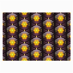 Pattern Background Yellow Bright Large Glasses Cloth (2 Side)