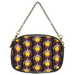 Pattern Background Yellow Bright Chain Purses (Two Sides)