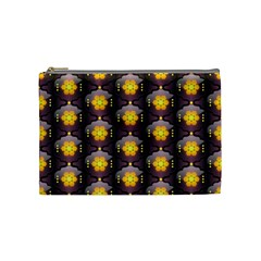 Pattern Background Yellow Bright Cosmetic Bag (medium)