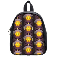 Pattern Background Yellow Bright School Bags (small)