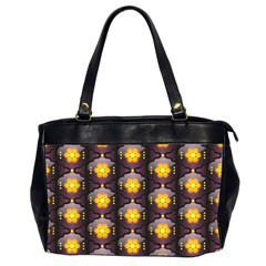 Pattern Background Yellow Bright Office Handbags (2 Sides)