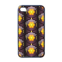Pattern Background Yellow Bright Apple iPhone 4 Case (Black)
