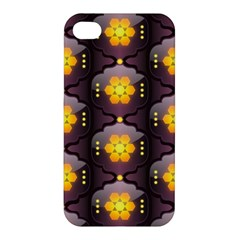 Pattern Background Yellow Bright Apple iPhone 4/4S Premium Hardshell Case