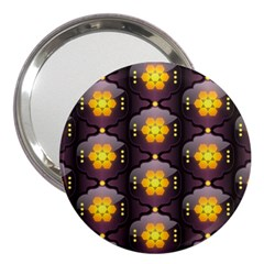Pattern Background Yellow Bright 3  Handbag Mirrors