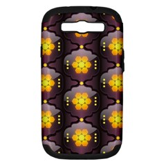 Pattern Background Yellow Bright Samsung Galaxy S III Hardshell Case (PC+Silicone)