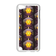 Pattern Background Yellow Bright Apple iPod Touch 5 Case (White)