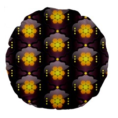 Pattern Background Yellow Bright Large 18  Premium Round Cushions