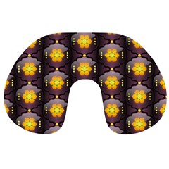 Pattern Background Yellow Bright Travel Neck Pillows