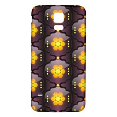 Pattern Background Yellow Bright Samsung Galaxy S5 Back Case (White)