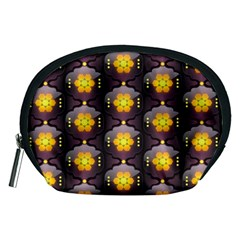 Pattern Background Yellow Bright Accessory Pouches (medium)