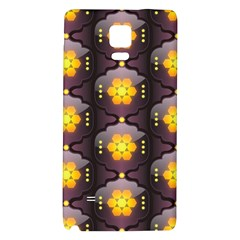 Pattern Background Yellow Bright Galaxy Note 4 Back Case