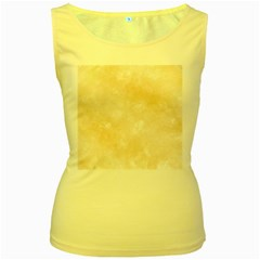 Pattern Background Beige Cream Women s Yellow Tank Top