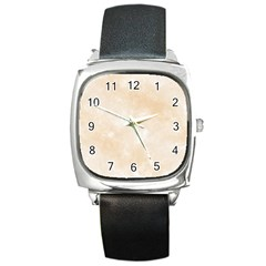 Pattern Background Beige Cream Square Metal Watch