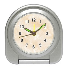 Pattern Background Beige Cream Travel Alarm Clocks